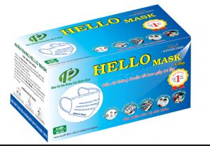 KHẨU TRANG Y TẾ HELLO MASK (4 Lớp Xanh)